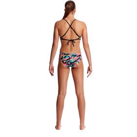 Funkita Top de bikini croisé dans le dos Femme, crazy painter